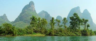 Limestone peaks in Yangshuo, Guilin, China Stock Photo