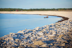 Limestone pebble beach in sweden.GN Stock Photo