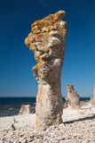 Limestone pillars Stock Photo