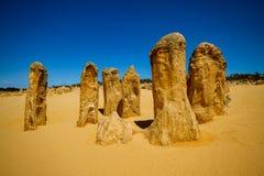 A group of pinnacles, Nambung National Park royalty free stock photos