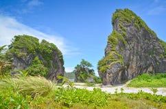 Tropical Limestone. Limestone in Pinusilan, Mapanas, Northern Samar, Philippines Stock Photo