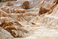 Limestone quarry. Old limestone and kaolin quarry to produce china clay and porcelain Royalty Free Stock Photos