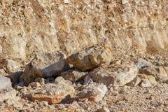 Limestone quarry background stock images