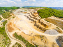 Limestone quarry. Stock Photo