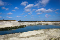 Limestone quarry. Royalty Free Stock Images