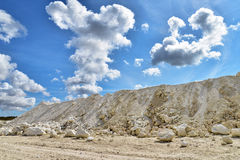 Limestone quarry Royalty Free Stock Photos
