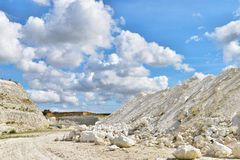 Limestone quarry. In Faxe, Denmark Stock Images