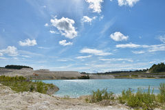 Limestone quarry. In Faxe, Denmark Royalty Free Stock Photography
