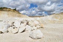 Limestone quarry Royalty Free Stock Photography