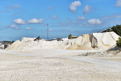 Limestone quarry Royalty Free Stock Photography