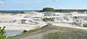 Limestone quarry Royalty Free Stock Photo