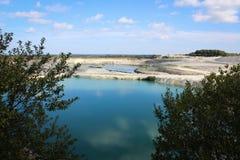 Limestone quarry. Royalty Free Stock Photos