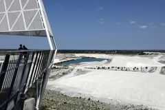 The limestone quarry in Faxe, Denmark. Fakse Kalkbrud royalty free stock photo