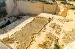 Limestone Quarry - Gozo, Malta Royalty Free Stock Photo
