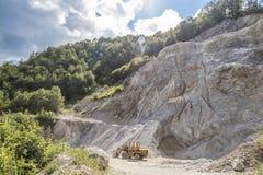 Limestone quarry industry, summer, Ukraine Stock Image