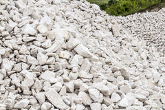 Limestone quarry industry, summer, Ukraine Royalty Free Stock Image