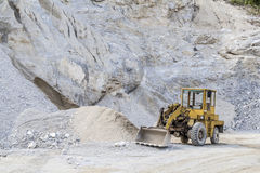 Limestone quarry industry, summer, Ukraine Stock Images