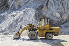 Limestone quarry industry, summer, Ukraine Royalty Free Stock Photo
