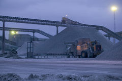 Limestone quarry.JH Royalty Free Stock Images