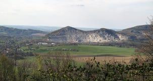 Limestone quarry on Kotouc hill near Stramberk Royalty Free Stock Images