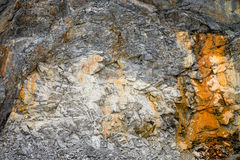 Limestone in Quarry Royalty Free Stock Images