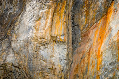 Limestone in Quarry Royalty Free Stock Photos