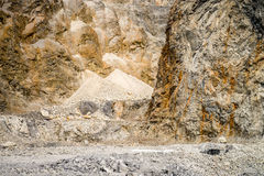 Limestone in Quarry Stock Image