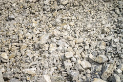 Limestone in Quarry Stock Photography