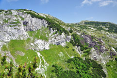 Limestone ridge, Iorgovanului cliff in Retezat mountain, Romania Royalty Free Stock Photos