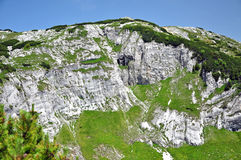 Limestone ridge, Iorgovanului cliff in Retezat mountain, Romania Stock Photos