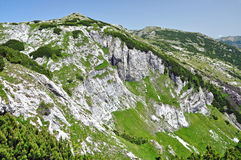 Limestone ridge, Iorgovanului cliff in Retezat mountain, Romania Royalty Free Stock Photo