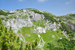 Limestone ridge, Iorgovanului cliff in Retezat mountain, Romania Stock Image