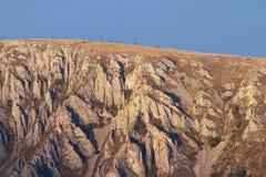 Limestone ridge in sunset colors Stock Image