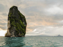 Limestone rock in the andaman sea. landscape shot Royalty Free Stock Photos