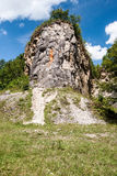limestone rock in Cesky kras Royalty Free Stock Photo