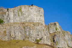 Limestone rock Cheddar Gorge Somerset. Limestone rock at the tourist attraction of Cheddar Gorge Somerset England Stock Photography