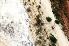 Limestone rock face stock images