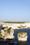 Limestone rock formation bonifacio corsica Stock Photos