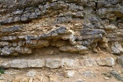 Limestone rock formation Stock Image