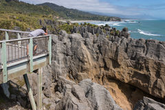 Limestone rock formation at Punakaiki Royalty Free Stock Image