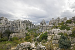 Limestone Rock formations in Antequera, Spain Stock Photography