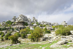 Limestone Rock formations in Antequera, Spain Stock Photos