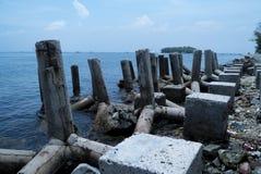 Limestone rock. On the island Stock Photos