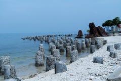 Limestone rock. At Kelor Island beach Stock Image