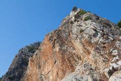 Limestone rock. Near Icmeler on the shore of the Mediterranean Sea Royalty Free Stock Photos