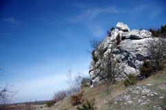Limestone rock in Polish Jura Stock Image