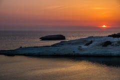Limestone rock, S`Archittu di Santa Caterina, Sardinia, Italy stock images