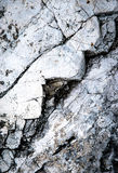Limestone rock with a zigzag crack Stock Image