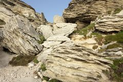Limestone rocks Royalty Free Stock Photography