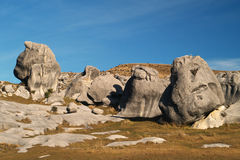 Limestone rocks at Castle Hill. Castle Hill limestone rocks and boulder, Maori sacred place, New Zealand Royalty Free Stock Image